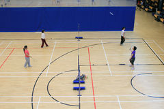 Badminton hall in Hang Hau Sports Centre Royalty Free Stock Photography