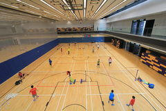 Badminton hall in Hang Hau Sports Centre Stock Photography