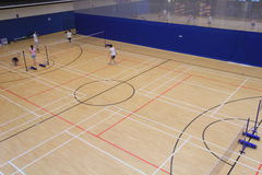 Badminton hall in Hang Hau Sports Centre Royalty Free Stock Photo