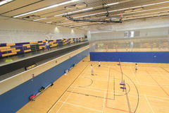 Badminton hall in Hang Hau Sports Centre Stock Photo