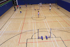 Badminton hall in Hang Hau Sports Centre Stock Images