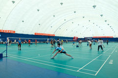 Badminton hall internal Stock Photos