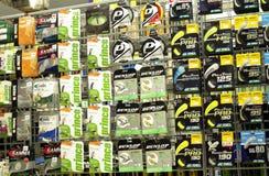 Badminton i tenisa akcesoriów sznurek i żyłka Obraz Stock