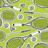 Badminton i tenisa tło ilustracja wektor