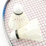 Badminton isolated on white Royalty Free Stock Photo