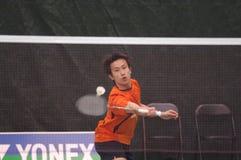 Badminton - juin Takemura - JPN Photographie stock