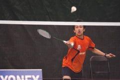 Badminton - juin Takemura - JPN Image libre de droits