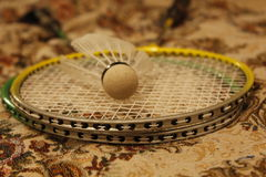 Badminton kant i shuttlecock Zdjęcie Stock