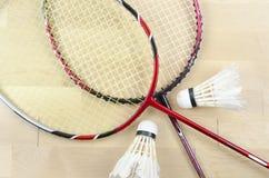 Badminton kant i shuttlecock Obrazy Royalty Free