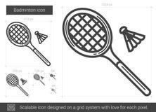 Badminton line icon. Royalty Free Stock Image
