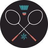 Badminton logo Obrazy Stock
