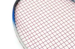 Badminton lokalisiert auf Weiß Stockbilder