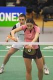 Badminton - Martyn Lewis WAL, Emma-Maurer SCO Stockbilder