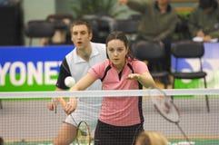Badminton - Martyn Lewis WAL, maçon SCO d'Emma Photos stock