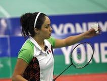 Badminton mexico racket shuttlecock Stock Photo