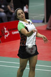 Badminton mexico serve shuttlecock Royalty Free Stock Image