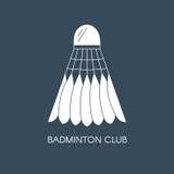 Badminton mit Federn versehene Federballikone Kreative Logoschablone für Badmintonverein Flache Illustration des Vektors Stockfotos