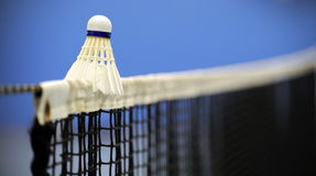 Badminton on net Royalty Free Stock Photo