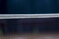 Badminton net indoor on badminton court, closeup view of badminton net with blurry background stock photo