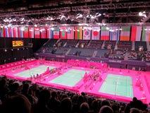 Badminton olímpico Imagens de Stock