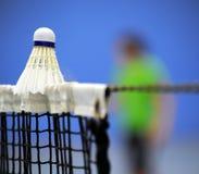 Badminton op netto royalty-vrije stock foto's