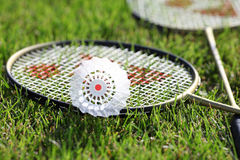 Badminton outdoors Royalty Free Stock Image