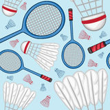 Badminton pattern background - Sport Stock Photography