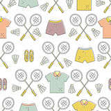 Badminton Pattern Stock Photography