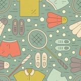 Badminton Pattern Stock Image