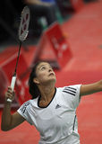 Badminton peru woman competition Royalty Free Stock Photos