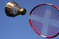 Badminton play sky blue royalty free stock images