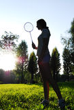 Badminton player Royalty Free Stock Images