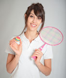 Badminton player Stock Photography