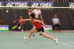 Badminton player stock images