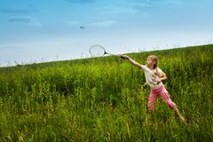 Badminton-player Royalty Free Stock Images