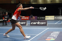 Badminton player Gayle Mahulette stock photos