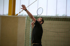 Badminton player royalty free stock photos