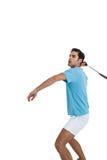 Badminton player playing badminton Royalty Free Stock Photos