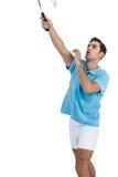 Badminton player playing badminton Stock Photo