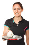 Badminton player portrait Stock Images