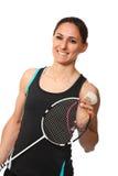 Badminton player portrait stock images