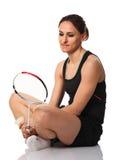 Badminton player portrait stock photography