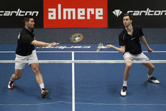 Badminton players Jelle Maas and Jacco Arends Royalty Free Stock Images