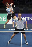 Badminton players Koen Ridder and Ruud Bosch Stock Photography