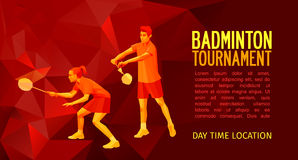 Badminton players mixed doubles team Stock Images