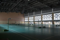 Badminton practice fields Royalty Free Stock Image