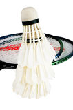 Badminton and racket Stock Photo