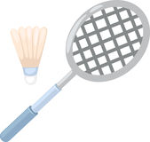 Badminton racket. Isolated on white background royalty free illustration