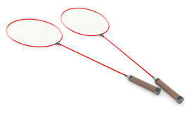 Badminton racket 3d model Stock Photography