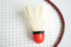 Badminton racket with ball Stock Image